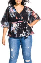 City Chic Flourished Top