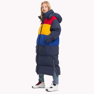 Tommy Hilfiger Oversized Colour Blocked Puffer Coat