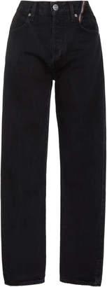 Atelier Jean Ryan Cropped High-Rise Slim-Leg Jeans