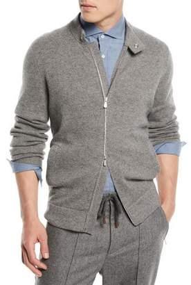 Brunello Cucinelli Wool/Cashmere Zip-Front Cardigan