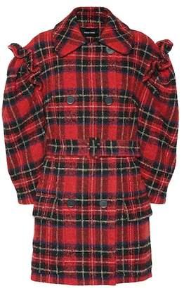 Simone Rocha Checked wool-blend coat