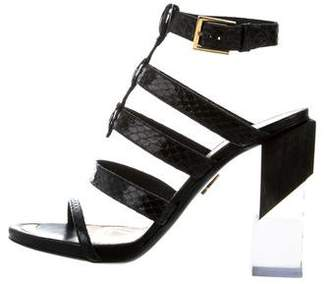 Maiyet Snakeskin Cage Sandals