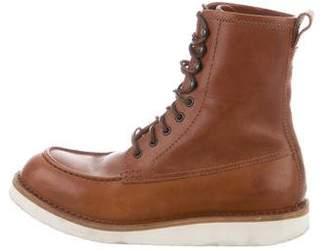 Bottega Veneta Round-Toe Ankle Boots