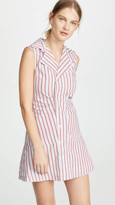 Derek Lam 10 Crosby Ruffle Placket Shirtdress