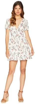 J.o.a. Deep V-Neck Fit Flare Dress Women's Dress