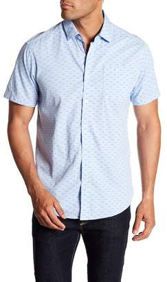 Report Collection Slim Fit Oxford Bird Printed Shirt