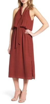 Women's Everly Tie Neck Midi Dress $49 thestylecure.com