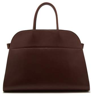 The Row Margaux 15 Leather Bag - Womens - Burgundy