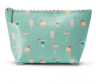 Lauren Conrad Vacation Cocktails Scalloped Cosmetic Bag