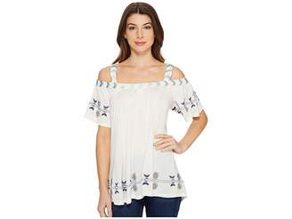 Scully Gail Embroidered Tunic Women's Blouse