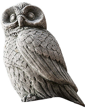 "Campania International 12"" Night Owl Outdoor Statue - Alpine Stone"