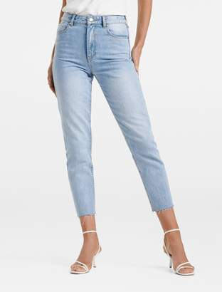 Forever New Lucie High-Rise Straight Jeans - Miami Blue - 6