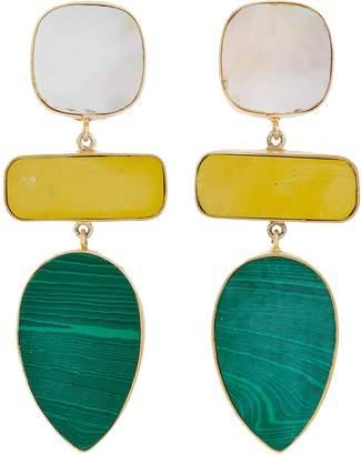 Kenneth Jay Lane Geometric link drop earrings