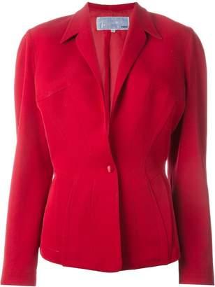 Thierry Mugler Pre-Owned structured shoulder blazer