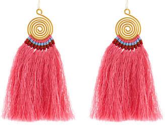 Nakamol Swirl Drop Earrings w/ Fringe