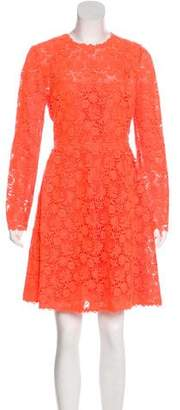 Valentino Lace Knee-Length Dress