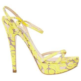 Miu Miu Yellow Cloth Sandals