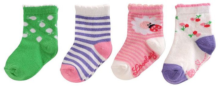Sonoma life + style 4-pk. bird and floral socks - toddler