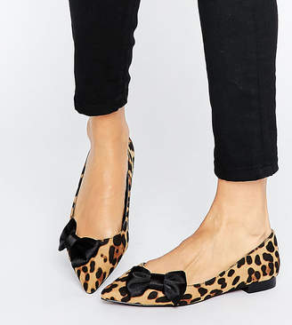 ... Asos LOUISE Pointed Bow Ballet Flats