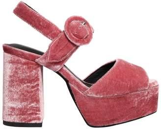 Jeffrey Campbell 110mm Masie Velvet Platform Sandals