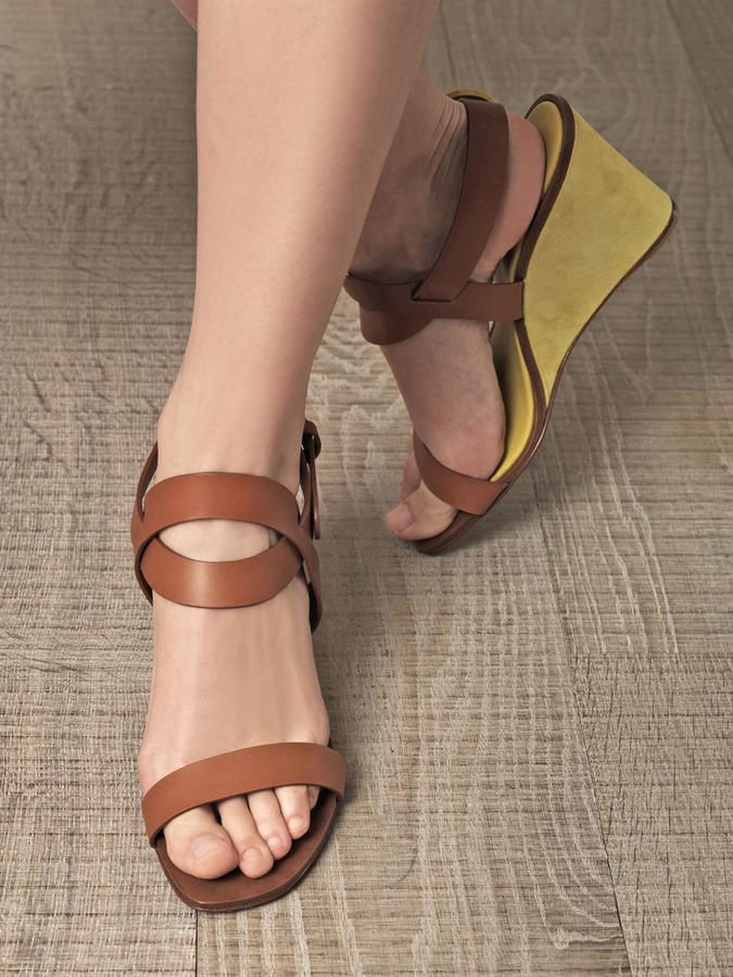 Sergio Rossi Sunrise wedge sandals