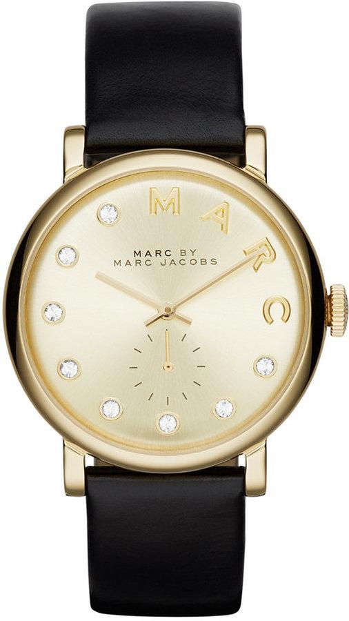 Marc By Marc JacobsMarc by Marc Jacobs Women's Baker Dexter Black Leather Strap Watch 36mm MBM1399