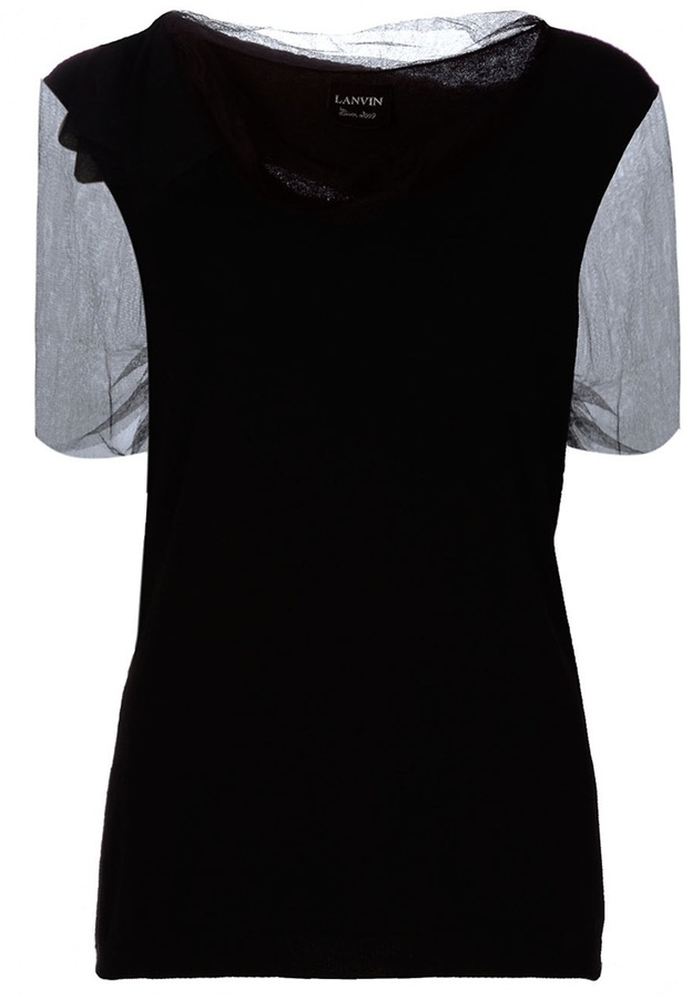 Lanvin Vintage Sheer sleeve top