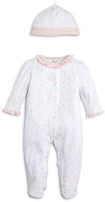 Little Me Girls' Star-Print Footie & Cap Set, Baby - 100% Exclusive