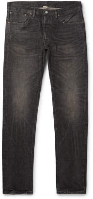 Ralph Lauren RRL Slim-Fit Distressed Selvedge Denim Jeans - Men - Black