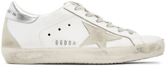 Golden Goose White & Silver Superstar Sneakers $460 thestylecure.com