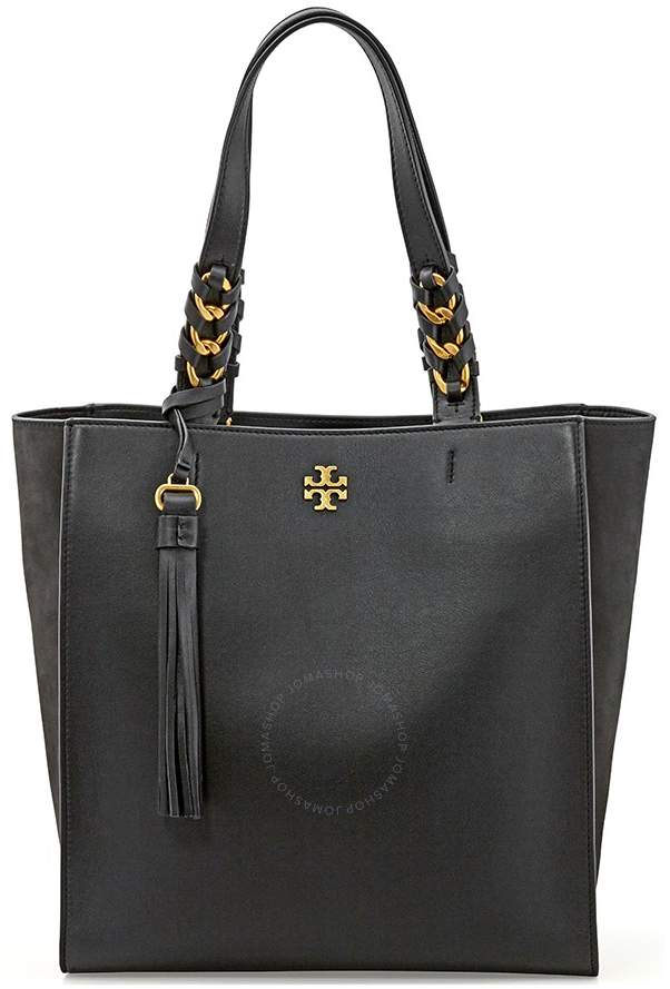 Tory Burch Brooke Leather Tote- Black - ONE COLOR - STYLE
