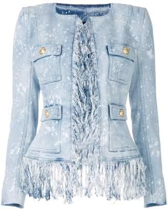 Balmain fringed denim jacket