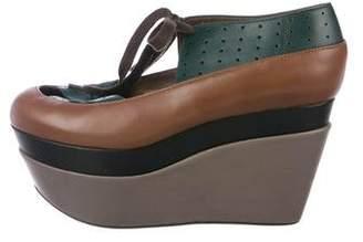 Marni Flatform Round-Toe Wedges