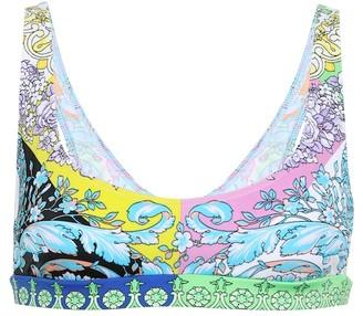 Versace Printed bikini top
