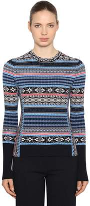 Sportmax Wool Jacquard Sweater