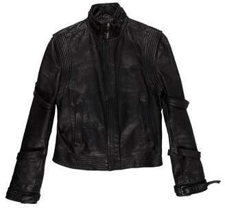 Qasimi Belt-Accented Leather Jacket