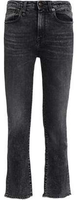 R 13 Tilson Faded High-Rise Kick-Flare Jeans