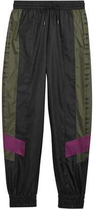 Burberry Logo Panel Shell Suit Pants