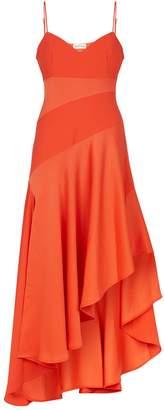 Nicholas Asymmetric Ruffle Dress