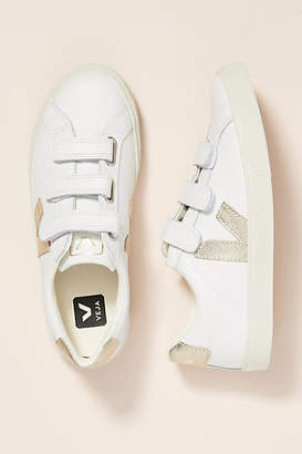 Veja White Gold Low-Top Sneakers