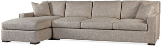 Massoud Furniture Walter Left-Facing Sofa - Pebble