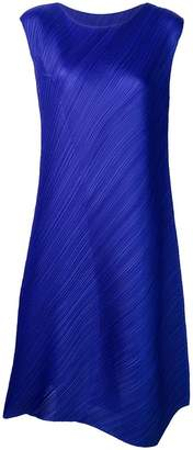 Pleats Please Issey Miyake oversized sleeveless dress