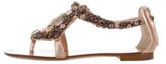 Giuseppe Zanotti Jewel-Embellished Leather Sandals