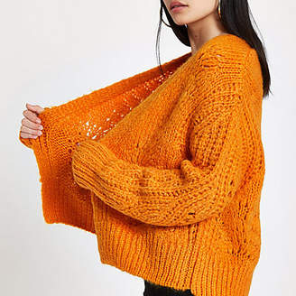 River Island Orange knitted cardigan