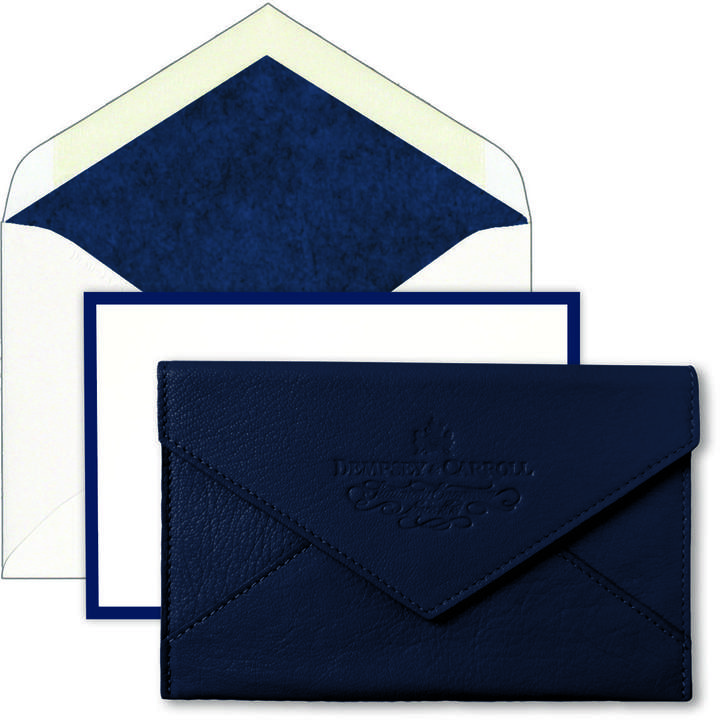 Correspondence Cards & Matching Leather Enclosure