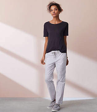 Lou & Grey Garment Dye Poplin Drawstring Pants