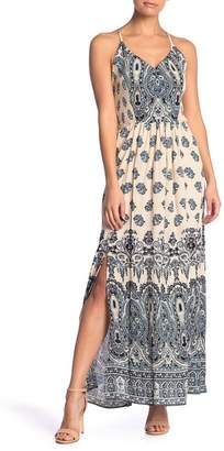 Angie Paisley Smocked Maxi Dress