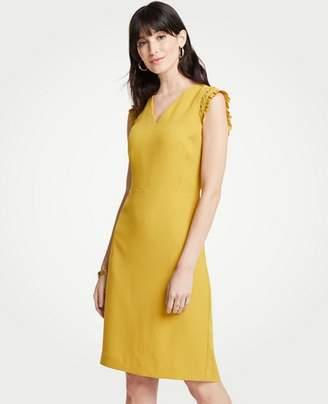 Ann Taylor Petite Ruffle Sheath Dress