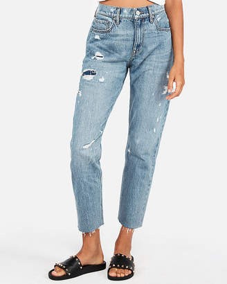 Express High Waisted Original Ripped Vintage Skinny Jeans