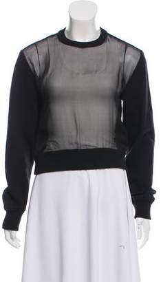 Givenchy Sheer Front Sweatshirt